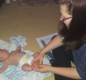 Baby Massage Course at Poole Bay Osteopaths, March 2014
